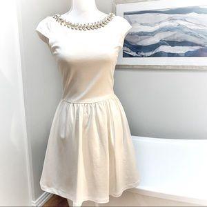 Chelsea & Violet Jeweled Neckline Pocket Dress